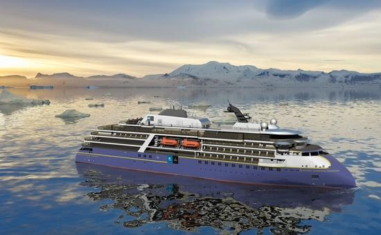 A rendering of Lindblad's newest polar vessel, the National Geographic Endurance.