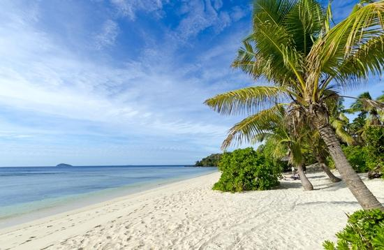 A beach on the Mamanuca Islands of Fiji