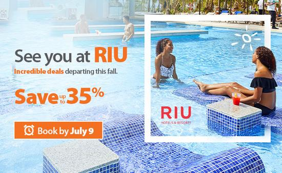 Sunwing's See You at RIU Sale