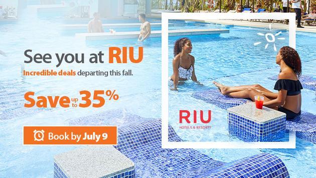 Sunwing's See You at RIU Sale