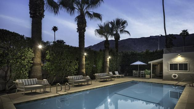 Pool, palm springs, hotel, palm trees, hotel pool