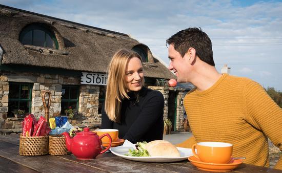 Couple in an Irish cafe.