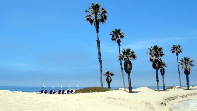 Shore of Oxnard State Beach in Ventura County, California