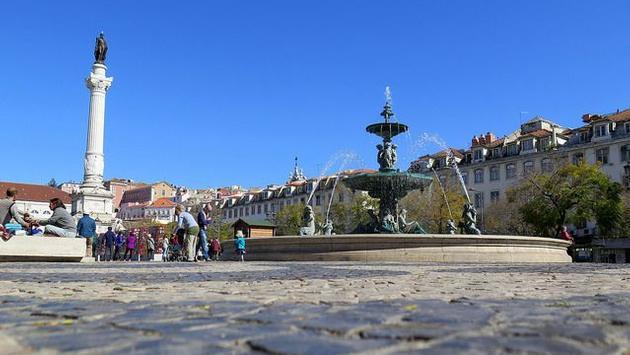 A public square in Lisbon