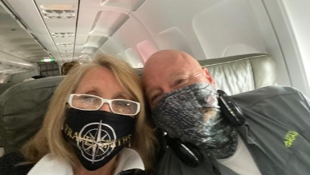 Wearing masks during the flight