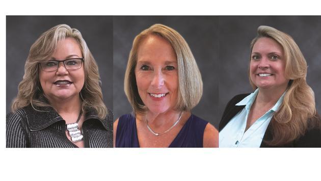 From left to right: Karen Seiler, Karen Paul, CJ Rogers are Business Development Managers.