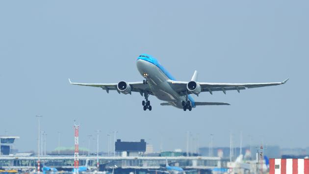 KLM Airbus A330-200 taking off from Amsterdam Schiphol Airport