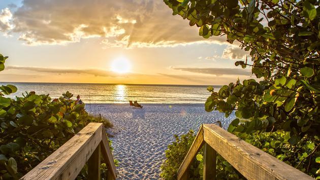Sunset on the Beach of Naples, Florida