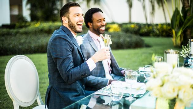 A happy wedding couple