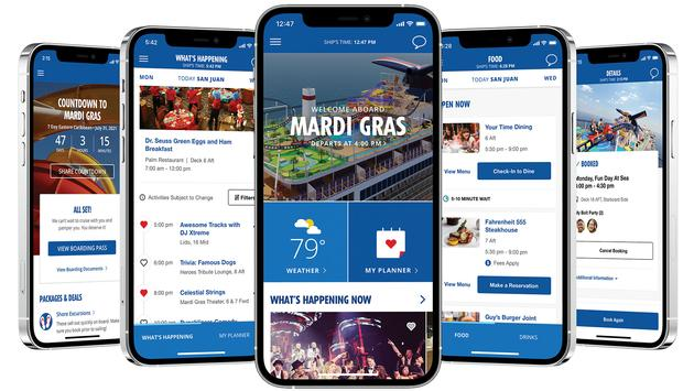 Expanded HUB app from Carnival.