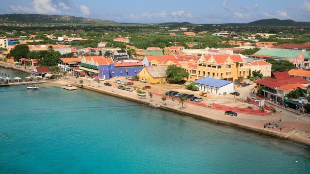 View of Kralendijk, capital of Bonaire