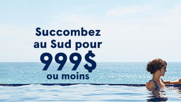 Transat invite les Canadiens à Succomber au Sud pour 999 $ ou moins