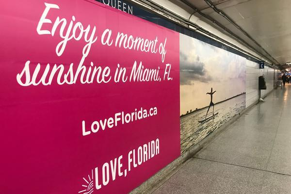 VISIT FLORIDA Takes Over Toronto Transit