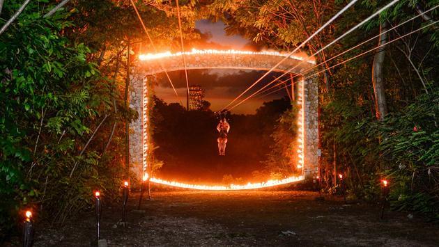 Xplor Fuego, evening zip-line