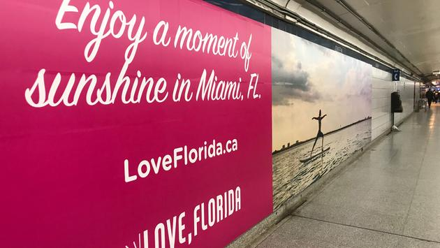Florida Tourism Poster in Toronto