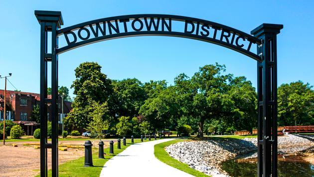 Downtown District in Hattiesburg, Mississippi