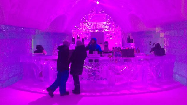 Ice bar inside Hotel de Glace