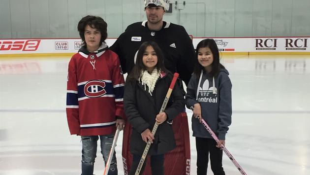 Carey Price With British Columbia Kids