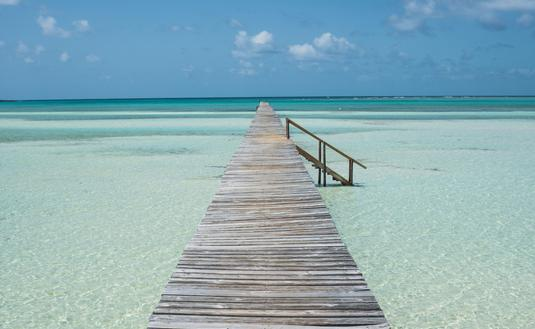 Abaco Island, Bahamas in the summertime