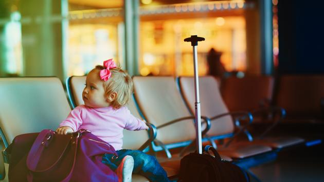 baby, airport, child, family
