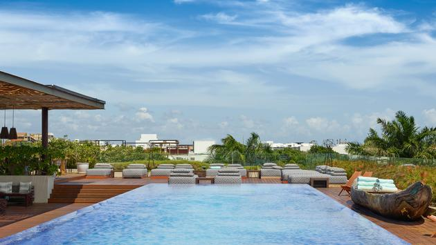 Rooftop Pool at Live Aqua Boutique Resorts Playa del Carmen