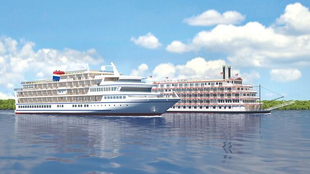 American Cruise Lines' two styles of ship—modern and traditional