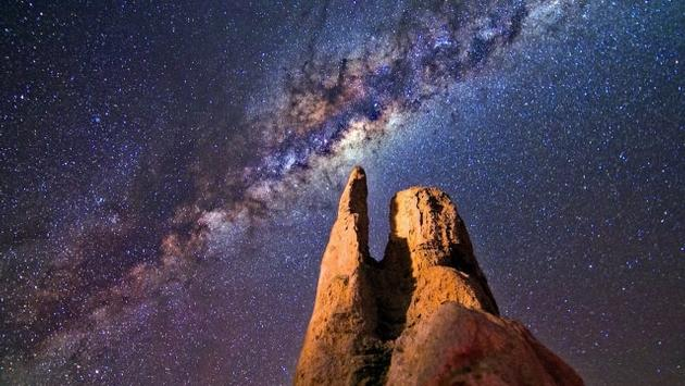 The Pinnacles with a Milky Way backround, Australia