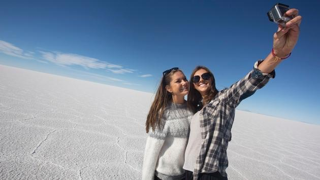 Bolivia's Salar de Uyuni (Uyuni Salt Flats) is included in several of G Adventures' 18 to Thirtysomethings millennial-focused trips, including their La Paz to Buenos Aires Adventure.