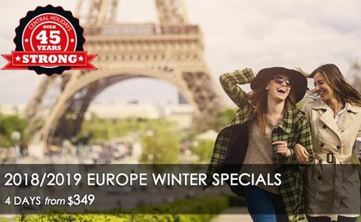 Europe Winter Specials - Get More & Pay Less!