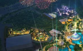 Universal's Epic Universe Rendering - Cropped to show where Nintendo Land and a Wizarding World area might be