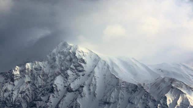 Rockies During Snowstorm