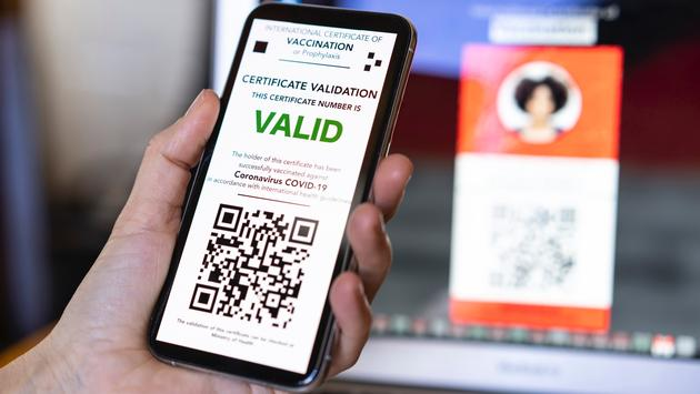 Example of a digital COVID-19 vaccination certificate.