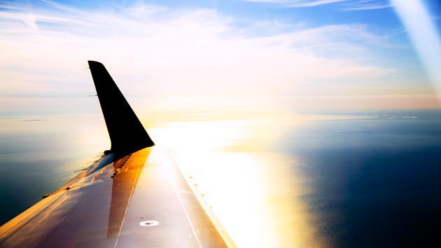 plane, flying, lake