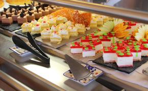 A dessert buffet on a cruise ship