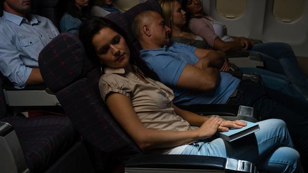sleeping, plane, flight, red eye