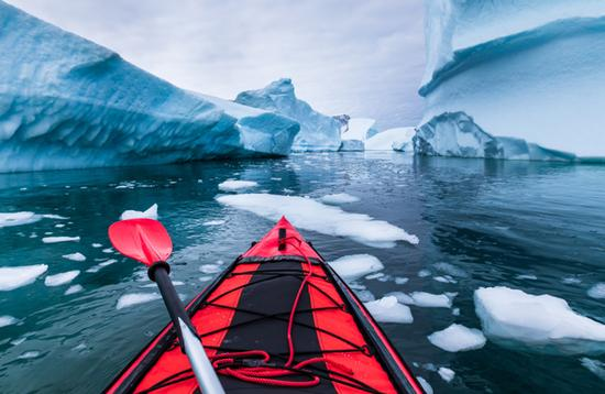 Kayak in Antarctica