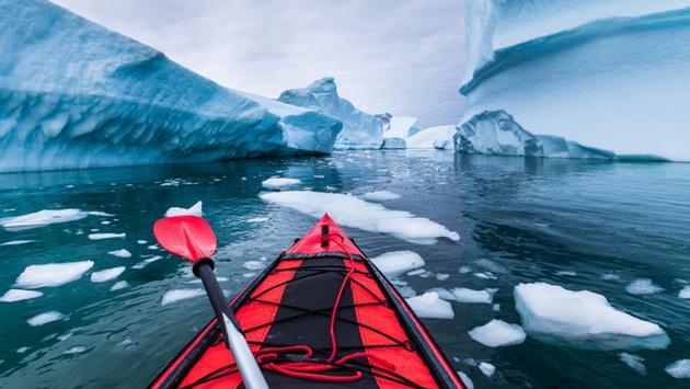 Kayak in Antarctica