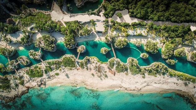Vista aérea del parque Xcaret
