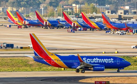 Southwest Airlines Boeing 737 aircraft at Hartsfield-Jackson Atlanta International Airport