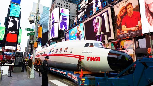 Connie, Times Square, TWA Hotel, plane