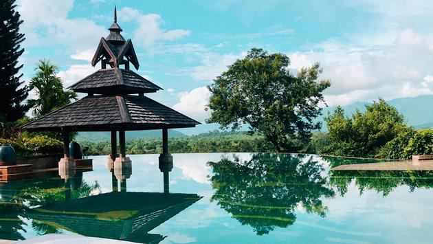 Infinity pool, Anantara Golden Triangle Elephant Camp & Resort