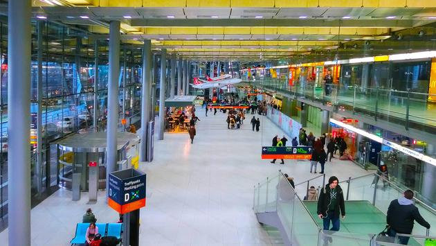 Inside of Germany's Cologne Bonn Airport