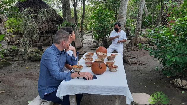 Travelers learn about Mayan culture and food with Mayan Kajtaj in the Mexican Caribbean.