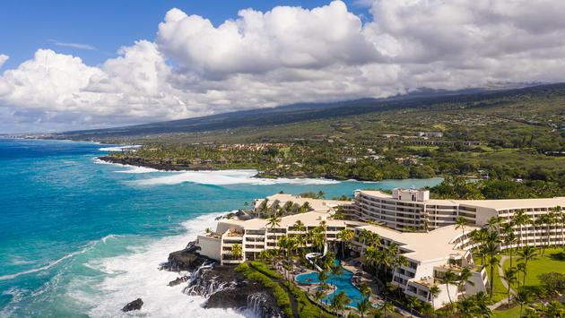 Aerial view of the Outrigger Kona Resort and Spa
