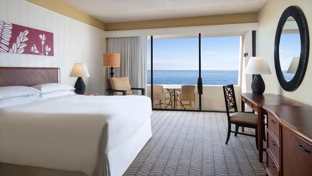 Ocean View King Room at the Outrigger Kona Resort and Spa