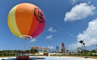 Up, Up and Away helium balloon at Perfect Day at CocoCay