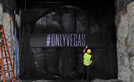 Breakthrough wall of Las Vegas Convention Center