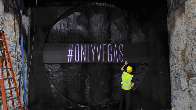 Breakthrough wall of Las Vegas Convention Center's upcoming Underground Transportation System