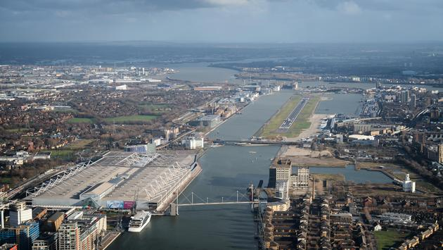 The runway at London City Airport