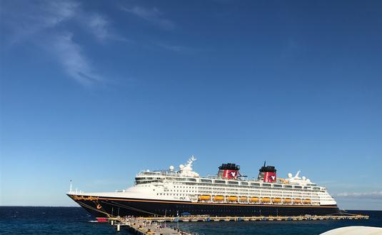 Disney Cruise Line ship docked in port